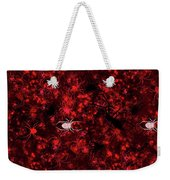 Red Spider Bokeh Pattern Weekender Tote Bag