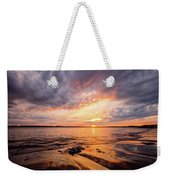 Reflect The Drama, Sunset At Fort Foster Park Weekender Tote Bag by Jeff Sinon