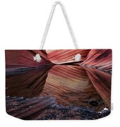 Reflection Of Cliffs In Water Weekender Tote Bag
