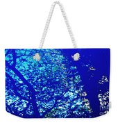 Reflection On A Blue Automobile 3 Weekender Tote Bag