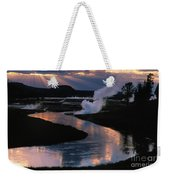 Reflections On The Firehole River Weekender Tote Bag