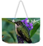 Rescued Ruby-throated Hummingbird Weekender Tote Bag
