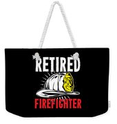 Retirement Retired Fire Fighter Retiree Gift Idea Weekender Tote Bag