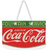 Retro Coke Sign Weekender Tote Bag