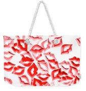 Retro Red Lips Weekender Tote Bag