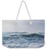 Reynisfjara Seagull Over Crashing Waves Weekender Tote Bag