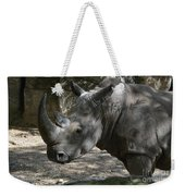 Rhino Standing In The Shade On A Summer Day Weekender Tote Bag
