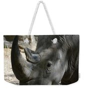 Rhinoceros With Two Horns Up Close And Personal Weekender Tote Bag