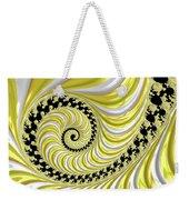 Ribbed Yellow Spiral Weekender Tote Bag