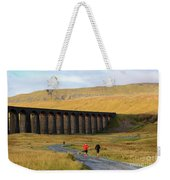 Ribblehead Viaduct In Late Autumn North Yorkshire Weekender Tote Bag