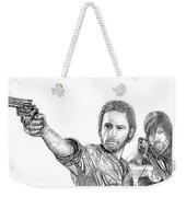 Rick And Daryl Weekender Tote Bag