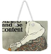 Ride A Stearns And Be Content, Circa 1896 Weekender Tote Bag