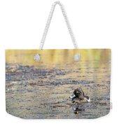 Ring Necked Duck Weekender Tote Bag by Michael Chatt