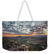 Rio Grande River Sunrise 2 - White Rock New Mexico Weekender Tote Bag