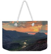 Rio Grande River Sunset Weekender Tote Bag