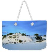 Rippled Sand Dunes In White Sands National Monument, New Mexico - Newm500 00119 Weekender Tote Bag