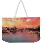River Thames At Molesey Weekender Tote Bag