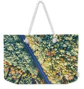 Road Through Colorful Autumn Forest Weekender Tote Bag