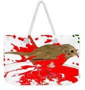 Robin And Snow Weekender Tote Bag