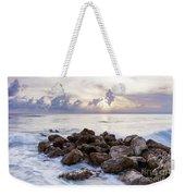 Rocky Beach At Sunset Weekender Tote Bag by Brian Jannsen