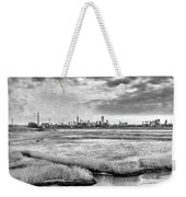 Rolling Into Nyc Black And White Weekender Tote Bag
