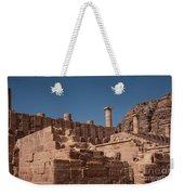Roman Temple In Petra Weekender Tote Bag by Mae Wertz