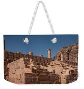 Roman Temple In Petra Weekender Tote Bag