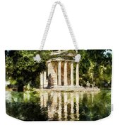 Rome, Ancient Temple Of Aesculapius - 04 Weekender Tote Bag