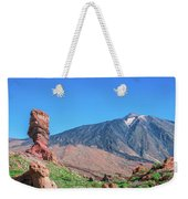 Roque Cinchado In Front Of Mount Teide Weekender Tote Bag