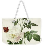 Rosa Bengale The Hymenes By Redoute Weekender Tote Bag