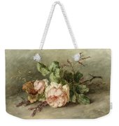 Roses, 19th Century Weekender Tote Bag