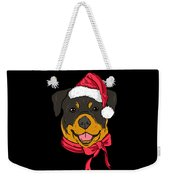 Rotweiler Xmas Hat Dog Pet Lover Christmas Weekender Tote Bag