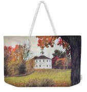 Round Church In Vermont Autumn Weekender Tote Bag by Jeff Folger