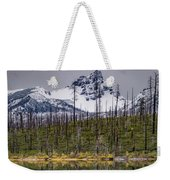 Round Lake Reflection Weekender Tote Bag