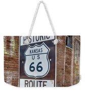Route 66 - Kansas #1 Weekender Tote Bag
