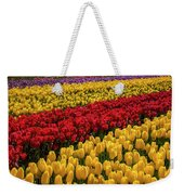 Row After Row After Row Of Tulips Weekender Tote Bag