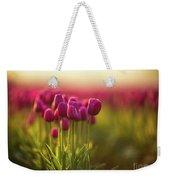 Rows Of Magenta Painterly Tulips Weekender Tote Bag