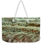 Rows Of Terra Cotta Warriors In Pit 1 Weekender Tote Bag