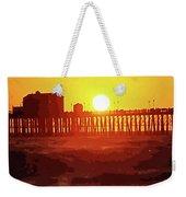 Ruby Sunset Oceanside Pier Weekender Tote Bag
