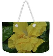 Ruffled Yellow Hibiscus Weekender Tote Bag by Patricia Strand