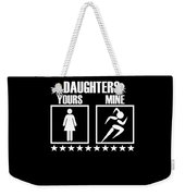 Runner Mom Dad Gift Parent Of Track And Field Daughter Weekender Tote Bag