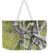 Russel Fence Weekender Tote Bag by Ann E Robson