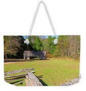 Rustic Double Crib Barn And Split Rail Fence In Cades Cove Weekender Tote Bag