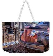 Rusty Old Truck In A Ghost Town In Arizona Weekender Tote Bag