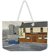 Ryans Pub And Swords Castle Painting Weekender Tote Bag