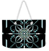 Sacred Circle Design In Blues And White Weekender Tote Bag