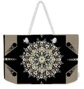 Sacred Circle Design In Gold, Cream And White Weekender Tote Bag