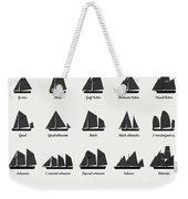 Sailing Vessel Types And Rigs Weekender Tote Bag