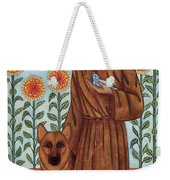Saint Francis And The Wolf Of Gubbio Weekender Tote Bag