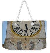 Saint Mary Church Clock Tower In Tavira. Portugal Weekender Tote Bag